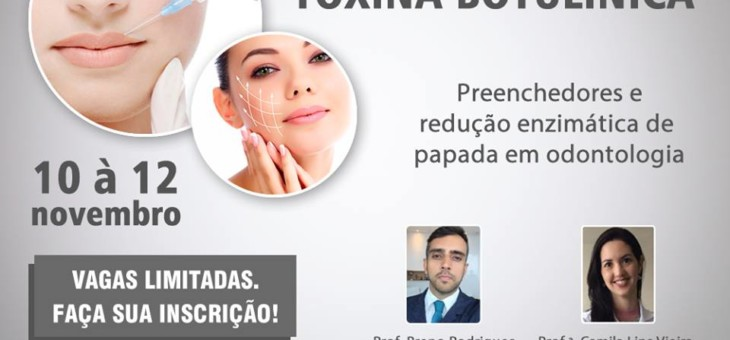 Curso de Toxina Botulínica – 10 à 12 de Novembro